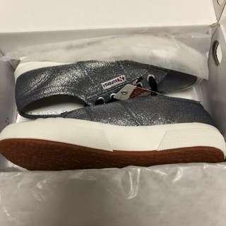 Superga sneakers lame grey brand new