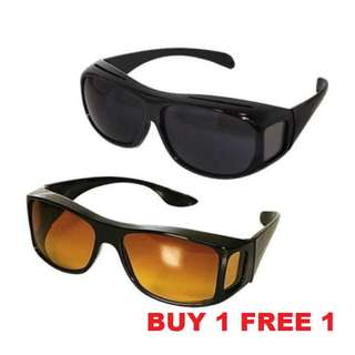 [BUY 1 FREE 1]HD Vision Unisex Sunglasses Anti Glare Day Night Clear Vision