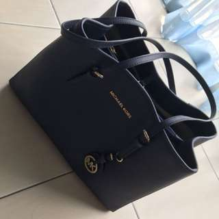 Micheal Kors big size tote bag navy blue