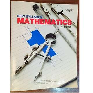 🌼 SEC 1 NEW SYLLABUS MATHEMATICS TEXTBOOK (EXPRESS) - 7th EDITION