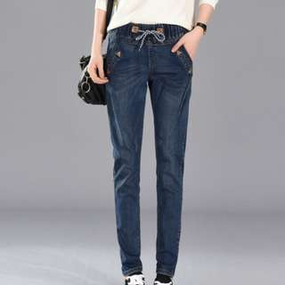 Winter Denim Pants with warm furry lining