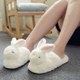 Furry Bunny Bedroom Slippers
