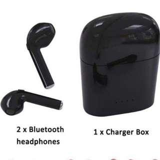 Bluetooth Earphone HBQ is8 mini (instock ) colour in black