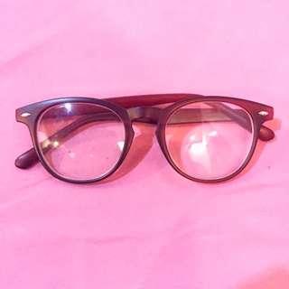 Maroon Frame Glasses