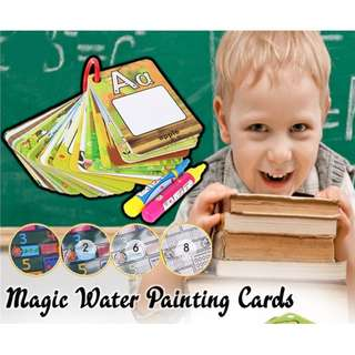 Reusable Magic Water Flash Card - 26pcs