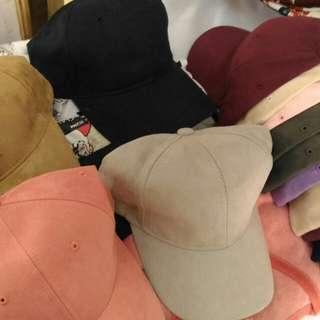 Suede Caps (pastel colors)