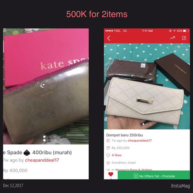 2 Items 500ribu Kate Spade Urban N Co
