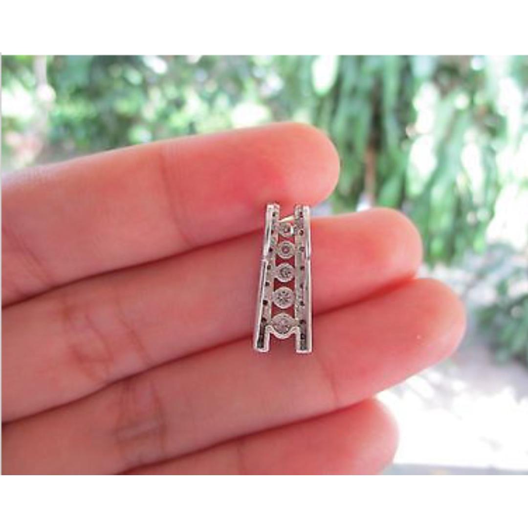 58 Carat Diamond White Gold Pendant 14k, Preloved Women\'s Fashion ...