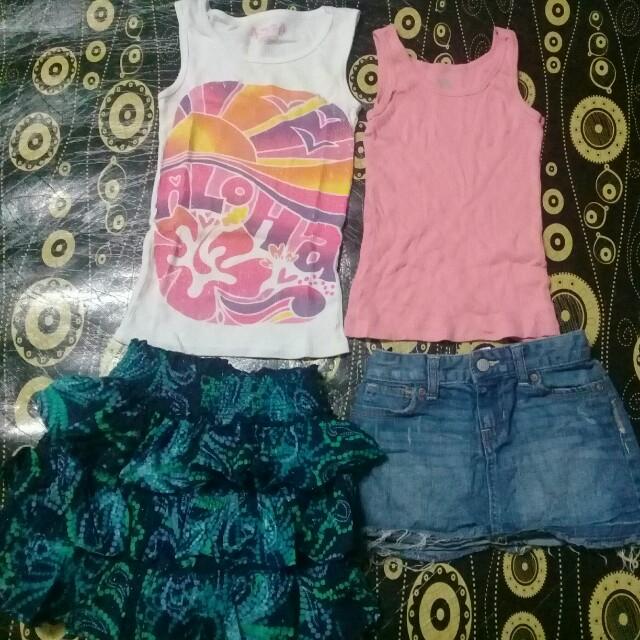 6-7 years Tank top + skirt set