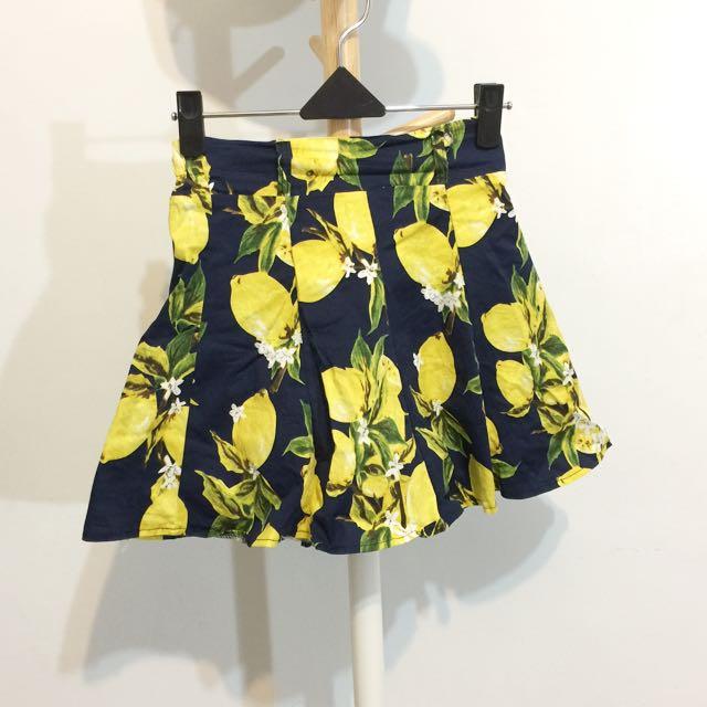 黃藍檸檬短裙
