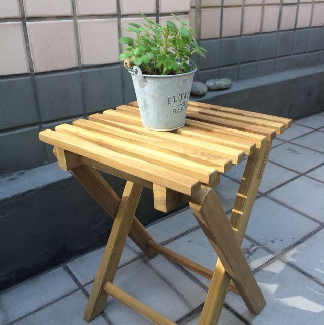 詩肯柚木小椅凳,再來一張