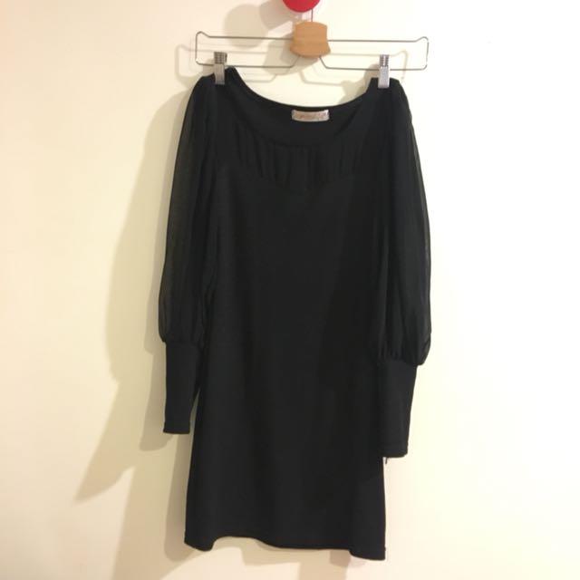 黑色 合身洋裝
