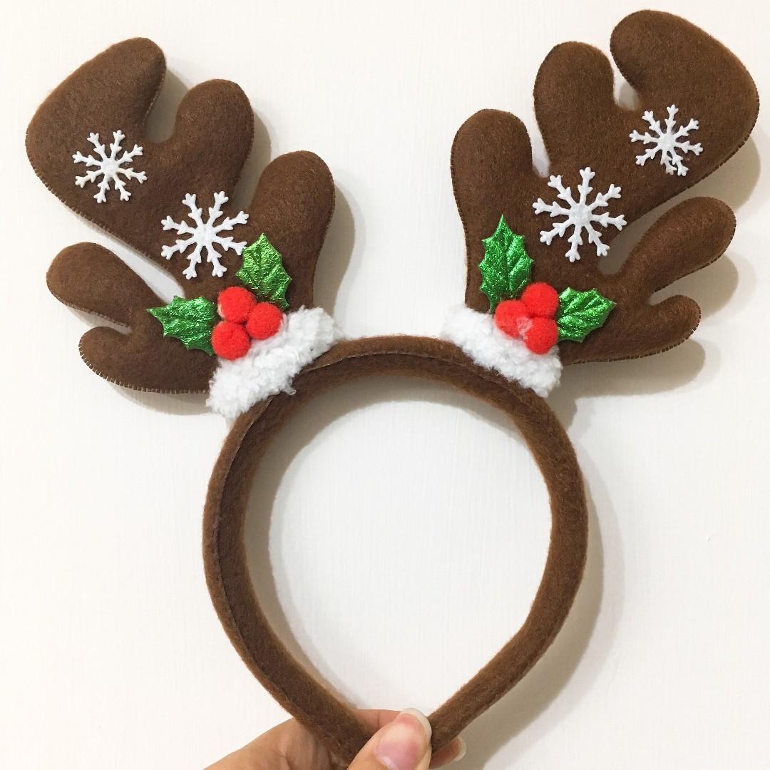 聖誕節系列-鹿角髮箍 大人/小孩皆可配戴