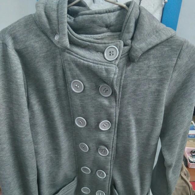 灰色 針織外套 排扣外套 厚外套 #外套特賣
