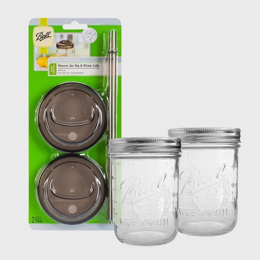 美國製造原廠梅森罐 Ball Jar Mason 各式玻璃罐 儲物罐 玻璃罐 吸管杯蓋組 配件 歡迎詢問 新開幕優惠中