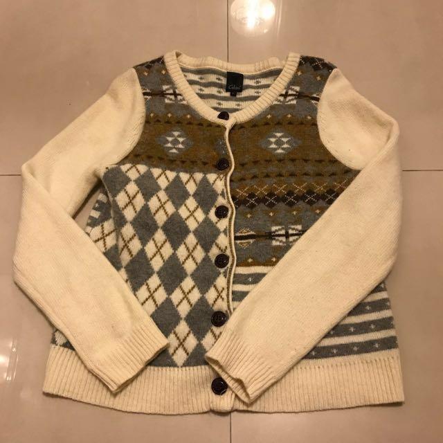 冬季大特賣!!!冬天首選 Gozo 毛衣外套 針織外套 復古