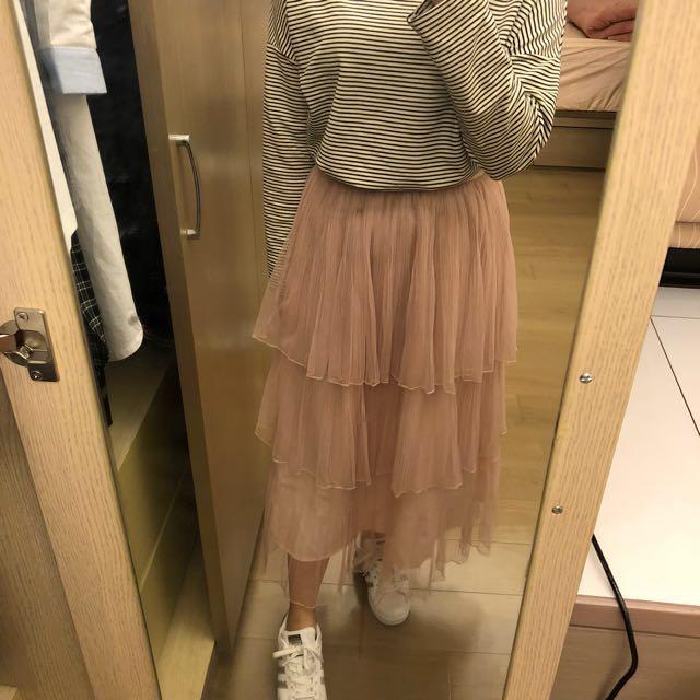 部落客 ivy iselect 自選品牌 蛋糕紗裙長裙