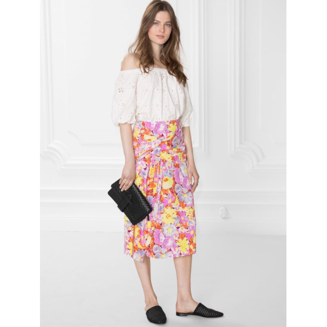 100e332b18 & Other Stories Knot Detail Floral Midi Skirt, Women's Fashion, Clothes,  Dresses & Skirts on Carousell