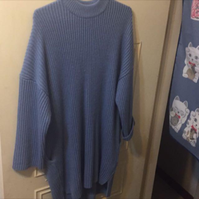 日本 sly 寬鬆口袋針織洋裝