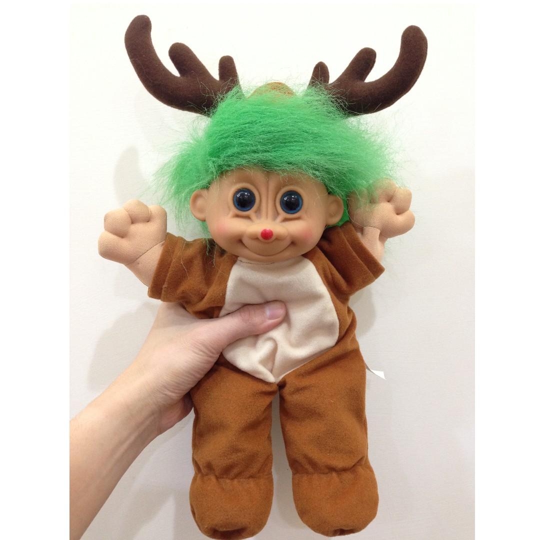 幸運小子 (麋鹿大哥哥)醜娃、巨魔娃娃、醜妞、Troll Doll、魔髪精靈