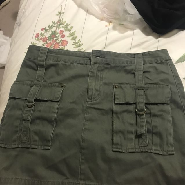 A line just jeans khaki mini skirt