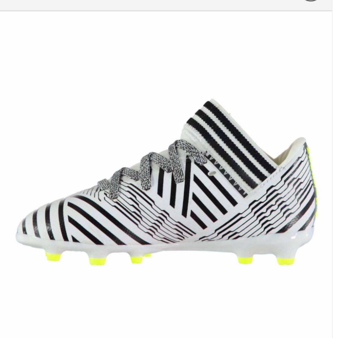 adidas Nemeziz 17.3 FG Childrens Football Boots White/SolYellow LLTGNs6u