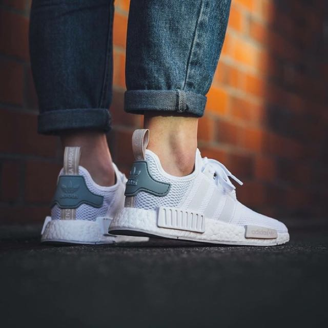 low priced 785dd 7f20c Adidas NMD R1 TACTILE GREEN, Women's Fashion, Shoes on Carousell