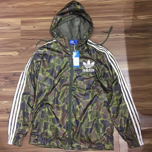 da55dea4fdefe8 adidas Originals Windbreaker Jacket In Camo BJ9997, Sports, Sports Apparel  on Carousell