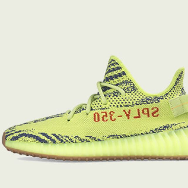 Adidas Yeezy Semi Frozen Yellow 350V2