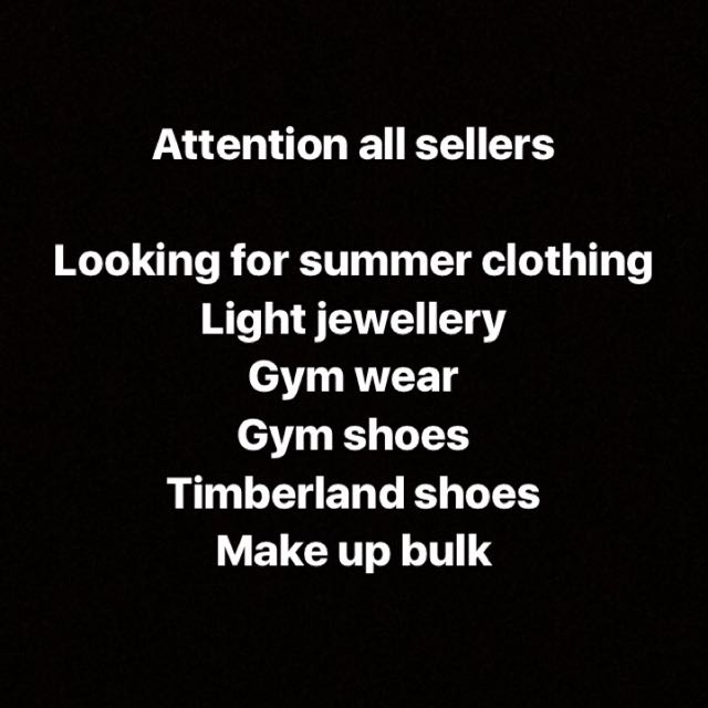 All sellers wanted