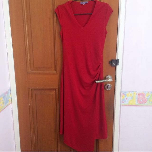 Arithalia Long Red Party Dress