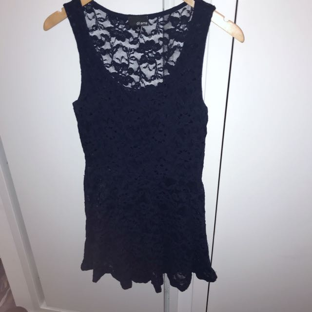 Aritzia Dillema Navy Lace Dress