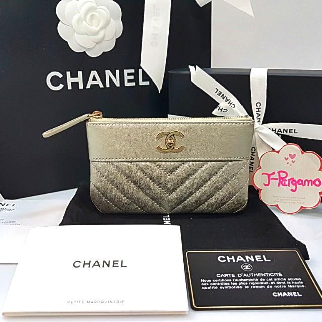 Authentic BNIB Chanel Chervon Mini O Case GHW {{ Only For Sale }} ** No Trade ** {{ Fixed Price Non-Neg }} ** 定价 **