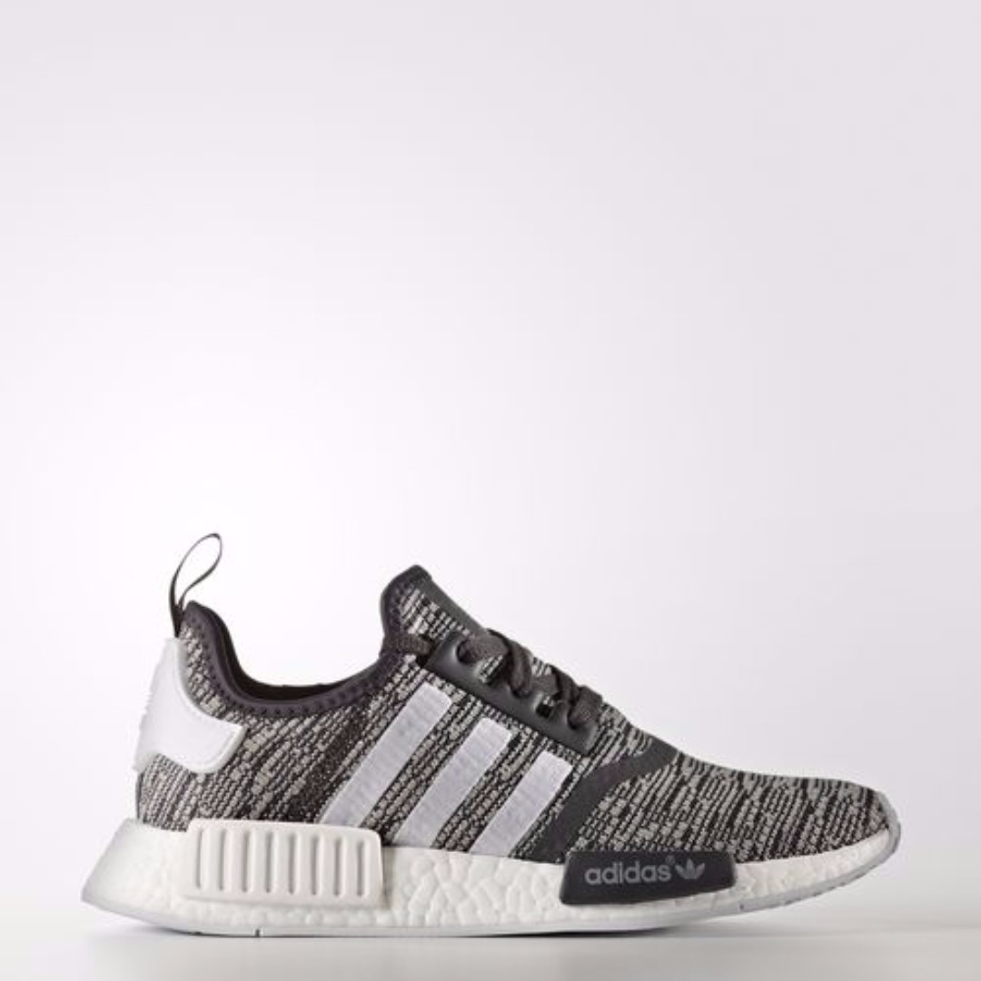 bad77e3b7bde Authentic  NMD R1 Glitch Grey