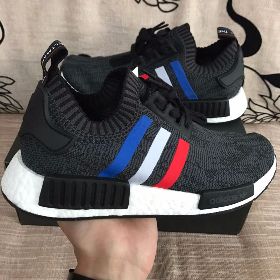 ff056563927a8 Authentic  NMD R1 PK Tri Color Black
