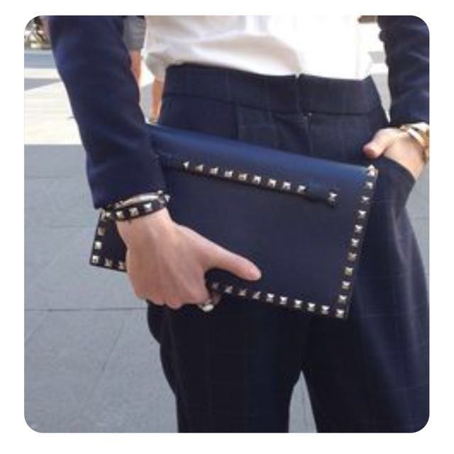 Authentic Valentino Studded Clutch