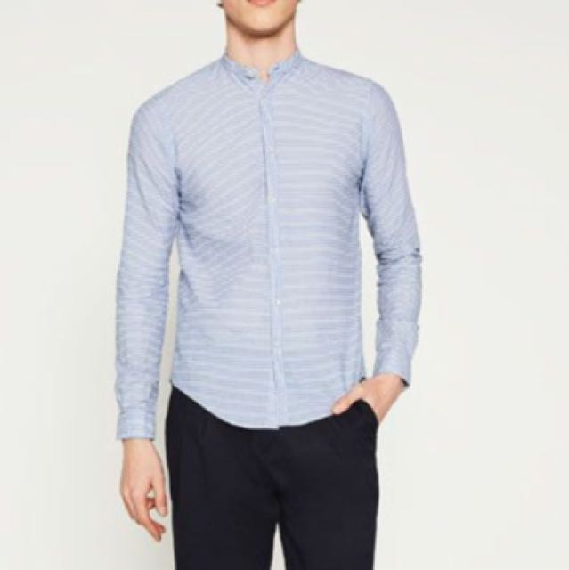 Authentic Zara Man Horizontal Stripes Shirt