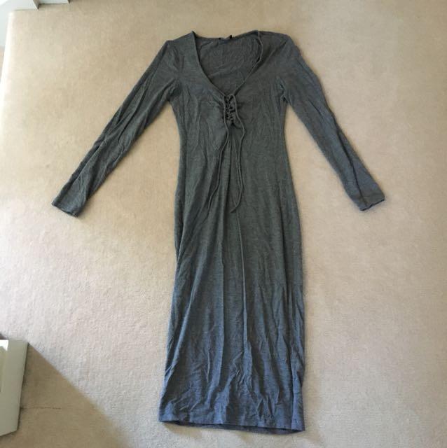 Bardot Midi Grey Dress