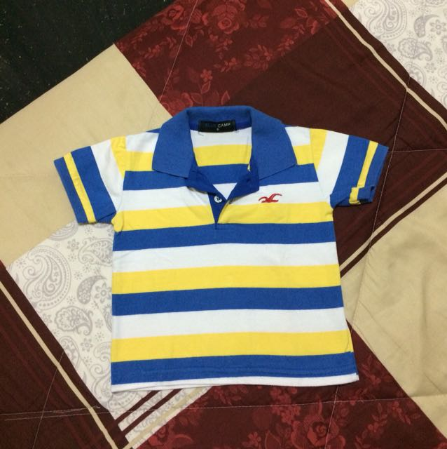 Blue Camp Polo Shirt