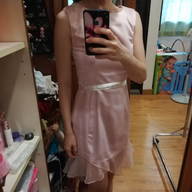 Blush/light pink dinner dress
