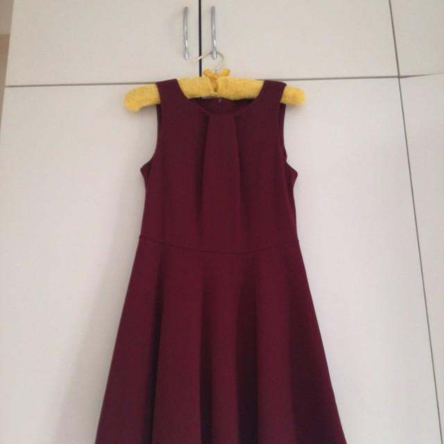 [BN] Kitschen Maroon Dress