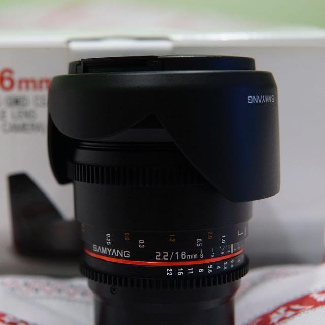 BNIB Samyang 16mm T2.2 Cine Lens for Sony E-mount