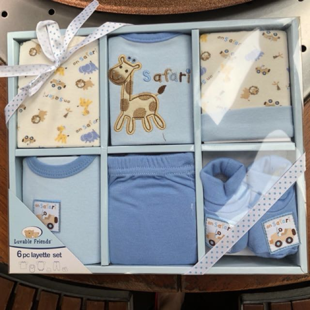 BNWB LUVABLE FRIENDS 6-piece Baby Gift Set for Boys (Size 0-6 mths)