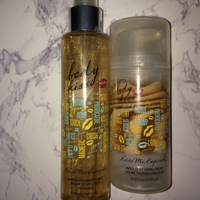 Body Kiss Cupcake cream and shimmer fragrance mist