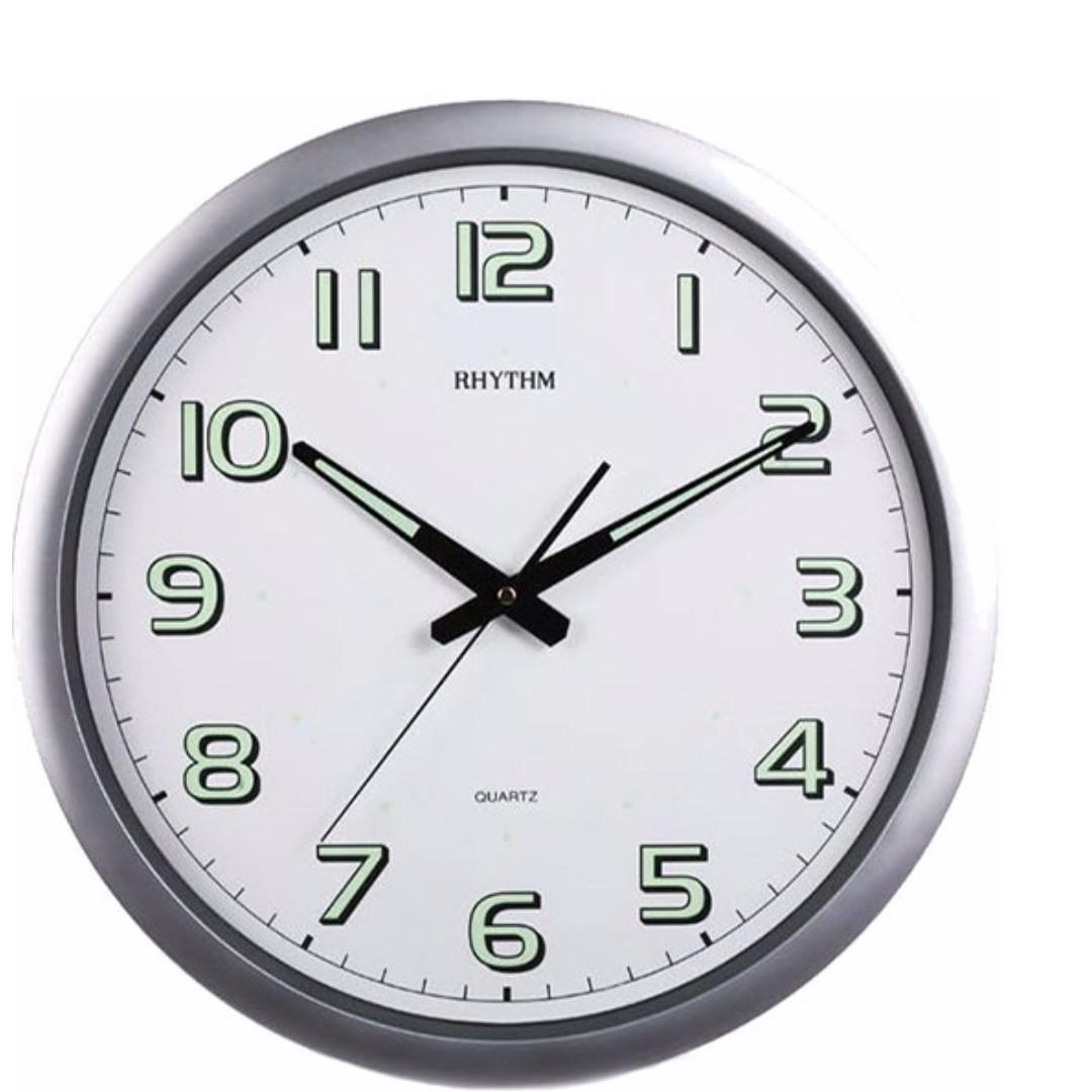 Brand new rhythm cmg805nr19 40cm wall clock with luminous home photo photo photo photo amipublicfo Images