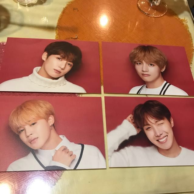 BTS x shibuya109 postcards