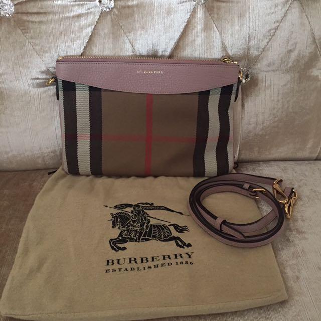 Burberry Housecheck Lilac Crossbody Bag