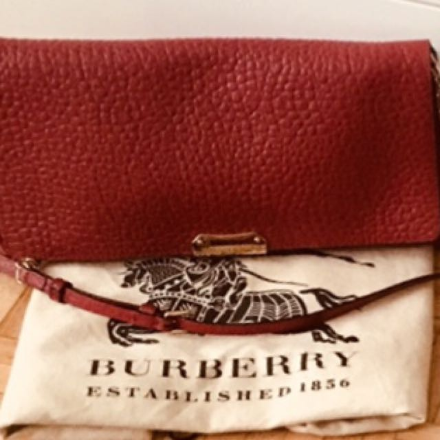 Burberry red leather Crossbody