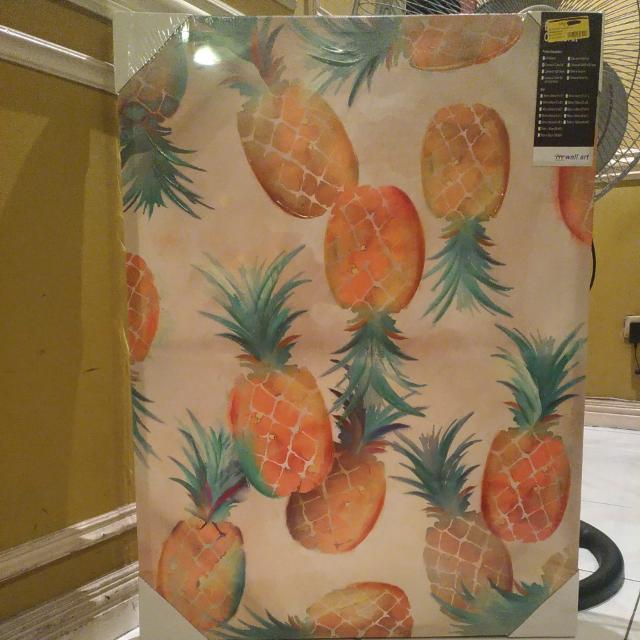 Pineapples Canvas With Color Gel Painting