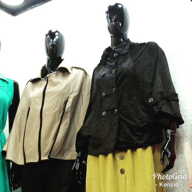 Cape, outer, luaran, blazer bahan suede